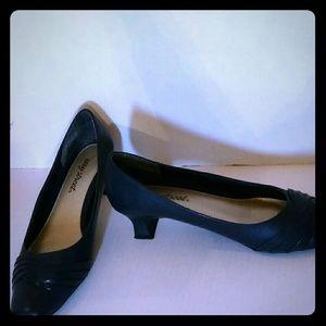 Easy Street Sophisticated Navy Blue Heels